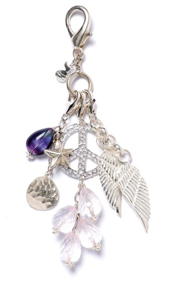 Peace and Feathers Charm