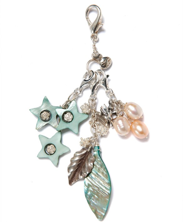 Green Leaf and Stars Charm