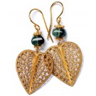 Filigree Hearts green