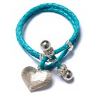 Toggle Turquoise Heart