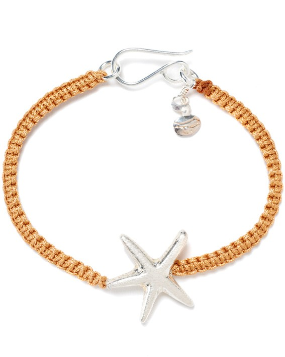 So Knot cognac silver starfish