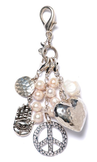 Peace and Pearls Charm