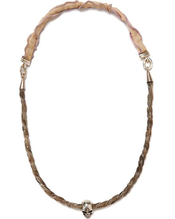 Silver Rope Skull