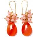 Dropped Color orange/light pink